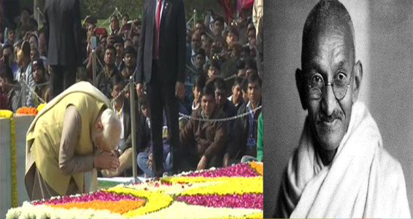 PM मोदी ने महात्मा गांधी को दी श्रद्धांजलि, कहा- सशक्त न्यू इंडिया के लिये प्रेरित करते रहेंगे