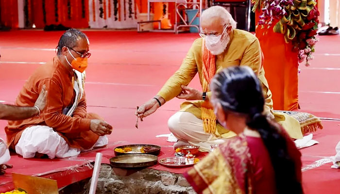 श्री राम मंदिर निर्माण' के लिए भूमि पूजन,करोड़ों रामभक्तों की आस्था शीर्ष पर