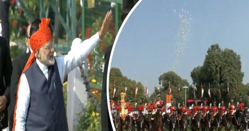 Republic day: राष्ट्रगान के साथ हुआ परेड का समापन, PM Modi ने किया लोगों का अभिवादन