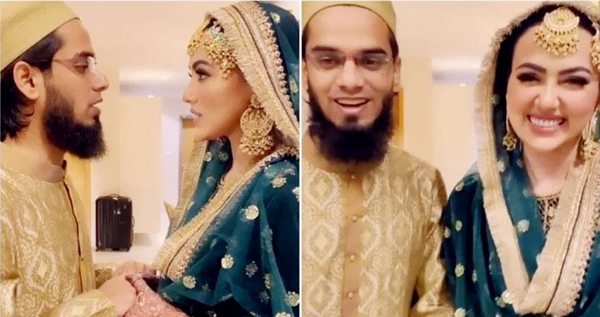 सना खान के निकाह की नई फोटोज आईं सामने, इस खूबसूरत कैप्शन के साथ पति ने की शेयर