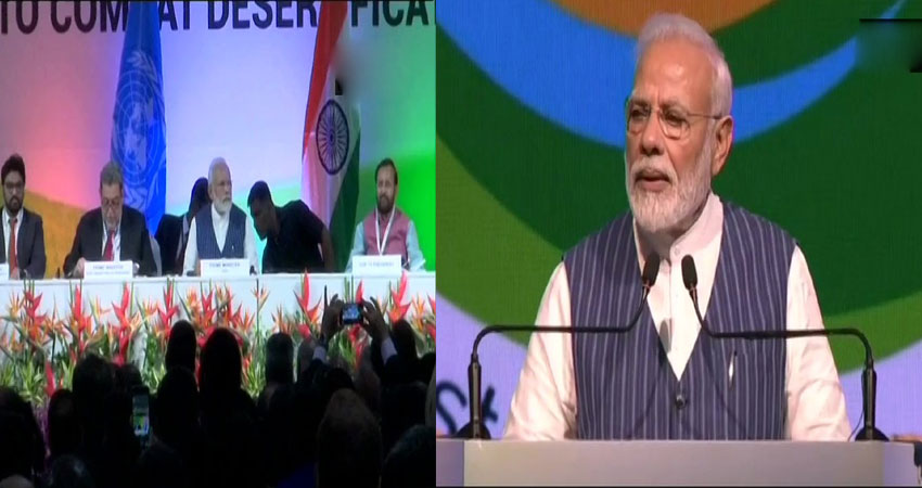 कॉप अधिवेशन में बोले PM मोदी- 10 साल में 50 लाख हेक्टेयर जमीन को बनाएंगे उपजाऊ