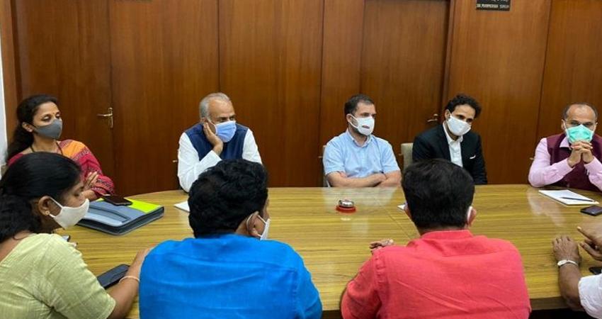 विपक्ष ने सरकार को घेरने की रणनीति पर की चर्चा, राहुल ने कहा- मुद्दों पर हो बात