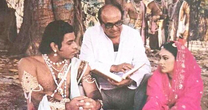 यहां देखें 'रामायण' की यह BTS फोटो, 33 साल पहले ऐसे होती थी शूटिंग