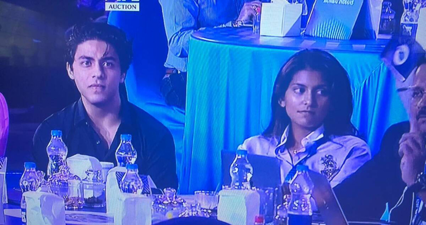 IPL 2021 के ऑक्शन में नजर आए शाहरुख के बेटे आर्यन, लोगों ने जमकर लिए मजे