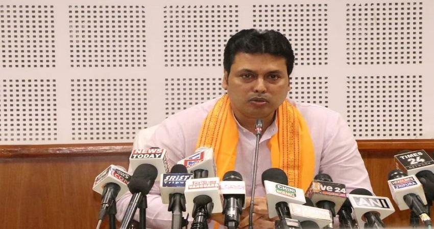 त्रिपुरा में दो हिस्सों में बंटे BJP के विधायक, नड्डा ने CM बिप्लब देब को रैली रद्द करने को कहा