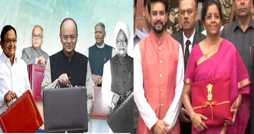 #Budget2019: इतिहास बना 'ब्रीफकेस', बही- खाता लेकर संसद पहुंचीं सीतारमण