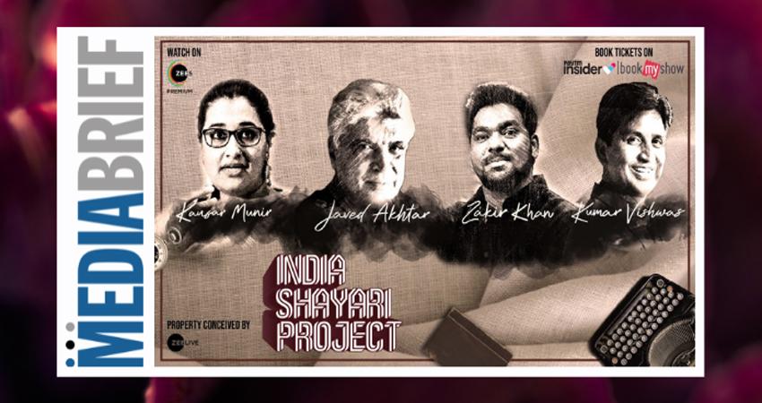 'इंडिया शायरी प्रोजेक्ट' में जावेद अख्तर सभी शायरी प्रेमियों के लिए एक ग्रैंड हेडलाइन एक्ट में आएंगे