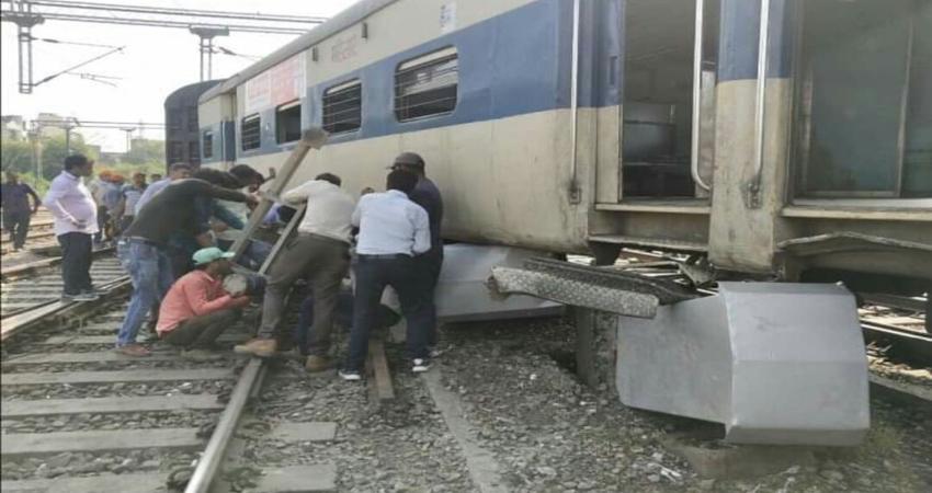 कानपुर: लोकल मेमू ट्रेन के चार डिब्बे पटरी से उतरे, जान माल का कोई नुकसान नहीं