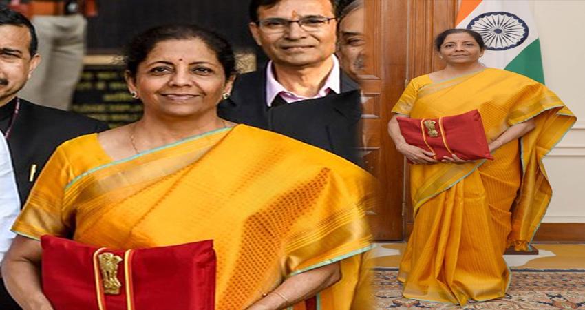 Budget 2020: बसंत पंचमी के ठीक बाद पीली साड़ी पहनकर बजट पेश करने पहुंची वित्त मंत्री