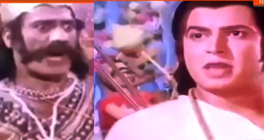रामायण के इस सीन पर बन रहे हैं memes, वॉर में पीछे खड़ा सैनिक कर रहा है गरबा