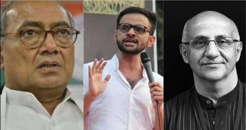 उमर खालिद को मिला दिग्विजय सिंह का समर्थन, बोले- गांधीवादी हिंसक नहीं हो सकते