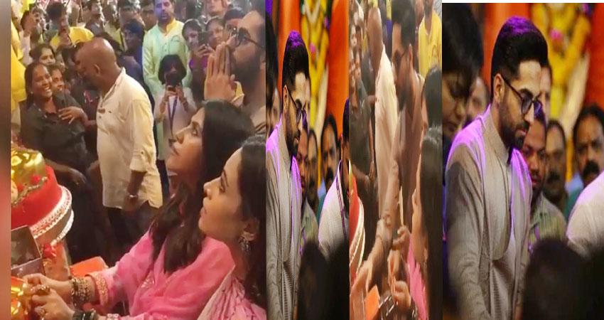 मुंबई में इतने सालों से रह रहे आयुष्मान ने पहली बार किए लालबाग के राजा के दर्शन