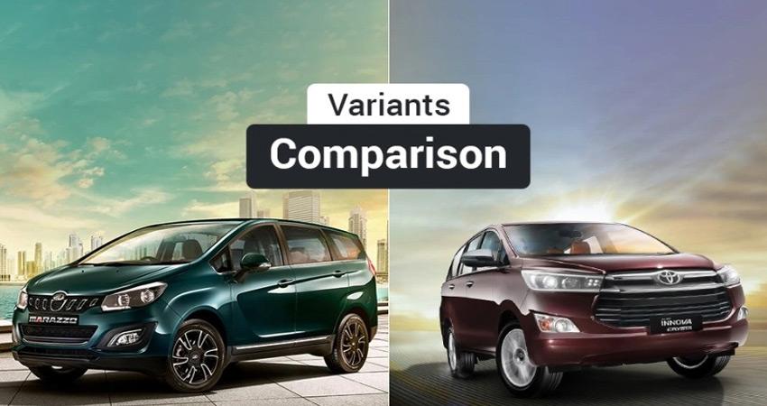 महिन्द्रा मराजो VS टोयोटा इनोवा क्रिस्टा, जानें कौन-सा वेरिएंट है बेहतर
