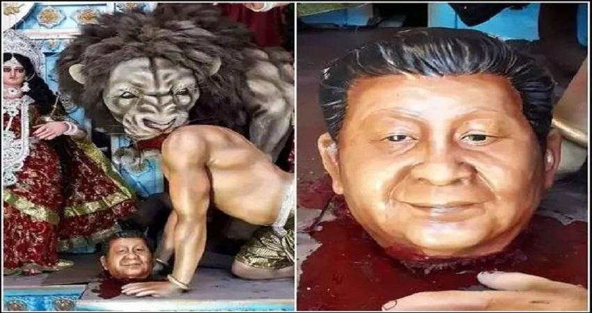 मां दुर्गा ने किया असुर ''शी जिनपिंग'' का वध, थरूर ने कहा- लगता है बंगालियों का चीन प्रेम खत्म!