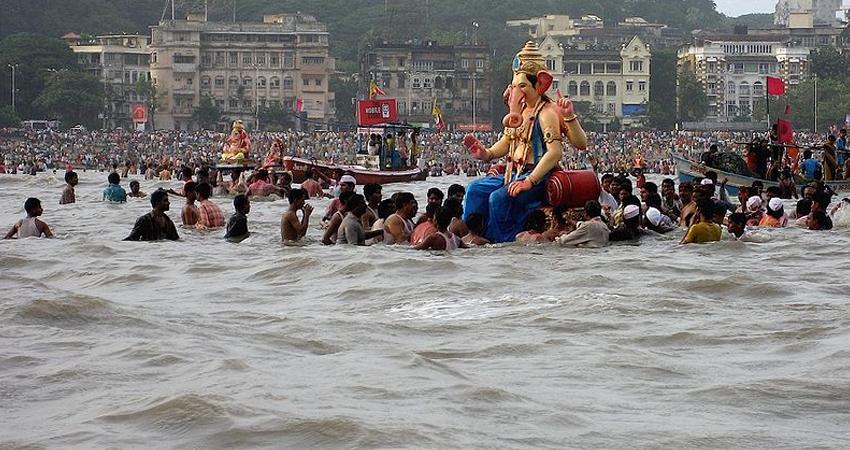 Ganesh Chaturthi: मुंबई में गणपति उत्सव के पांचवें दिन 66,000 से अधिक प्रतिमाओं का विसर्जन