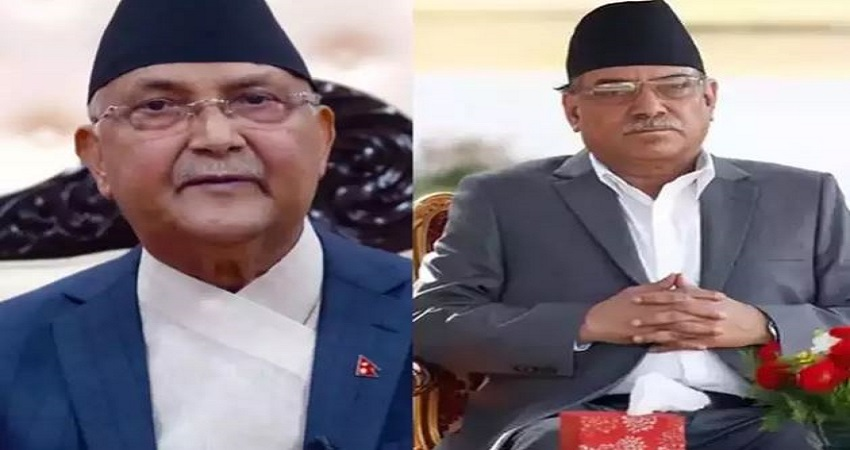 नेपाल पीएम ओली संग नहीं बन रही बात, अब टूट सकती है पार्टी- प्रचंड