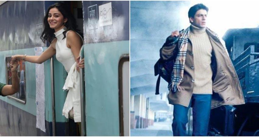 ''पति पत्नी और वो'' में अनन्या पांडे लेंगी शाहरुख खान वाली एंट्री, देखें Photo