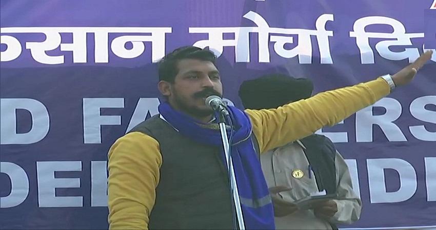 किसानों को समर्थन देने सिंघू बॉर्डर पहुंचे भीम आर्मी चीफ, मोदी सरकार को कहा तानाशाह