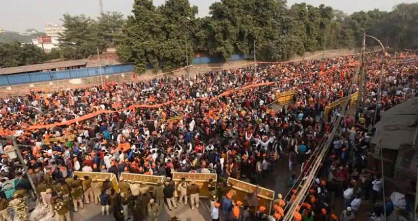 राम मंदिर: VHP की रैली में जुटे हजारों लोग, 'भैयाजी' बोले- जो आज सत्ता में हैं पूरा करें अपना वादा