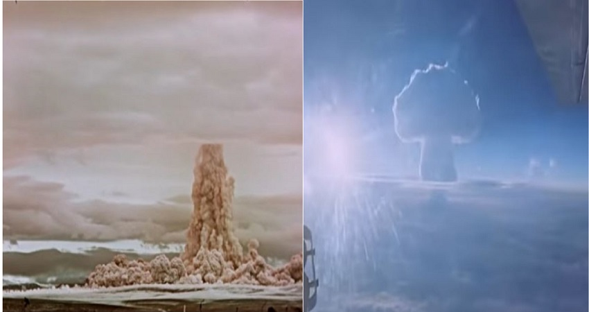 रूस ने दुनिया के सबसे बड़े परमाणु बम के परीक्षण का VIDEO जारी कर अमेरिका को दी ये चेतावनी...