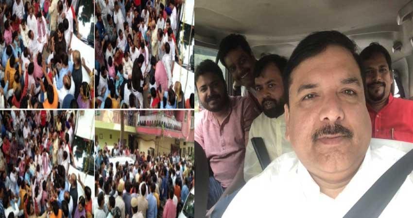दिल्लीः छठ घाट बनाने को लेकर AAP- BJP आमने सामने, धरने पर बैठे विधायक