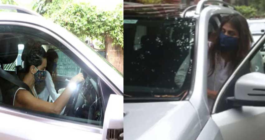 पुलिस पूछताछ के बाद पहली बार कैमरे में कैद हुई रिया चक्रवर्ती, तस्वीर हुई सोशल मीडिया पर Viral