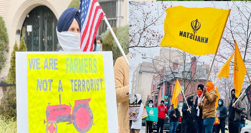 दिल्ली में ट्रैक्टर रैली का US में दिखा असर, खालिस्तान समर्थकों ने भारतीय दूतावास के बाहर किया प्रदर