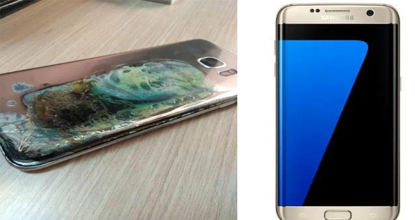 Samsung के Galaxy S7 Edge में अचानक लगी आग