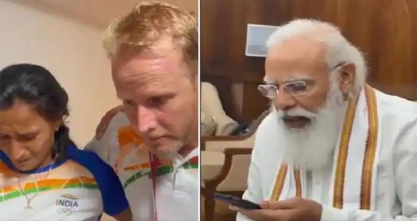 PM मोदी ने किया फोन तो रो पड़ीं महिला हॉकी टीम की बेटियां, देखें Video
