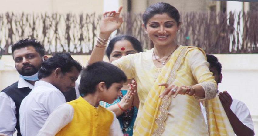 गणेश चतुर्थी पर Hit रहा शिल्पा के बेटे का डांस, अमिताभ के अंदाज में थिरके 8 साल के Viaan