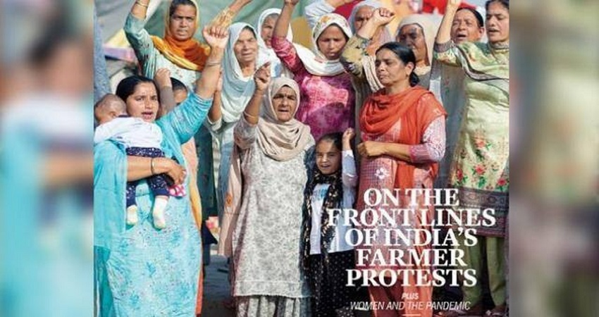 किसान आंदोलन में शामिल महिलाओं को TIME Magazine के कवर पेज पर मिली जगह