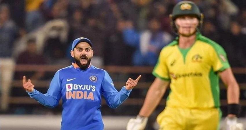 आस्ट्रेलिया के खिलाफ पहले वनडे में धीमी ओवर गति के लिये भारतीय टीम पर लगा जुर्माना