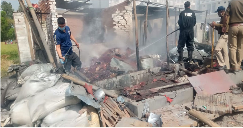 हरिद्वारः पिरान कलियर स्थित पटाखा फैक्ट्री में आग, दो की मौत