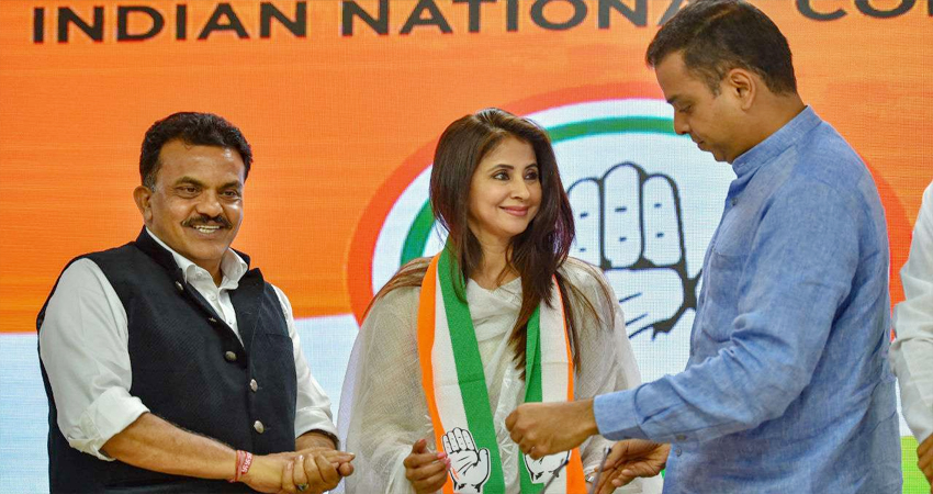 उर्मिला मातोंडकर ने छोड़ा कांग्रेस का हाथ, इस्तीफे के लिए बताई ये वजह...
