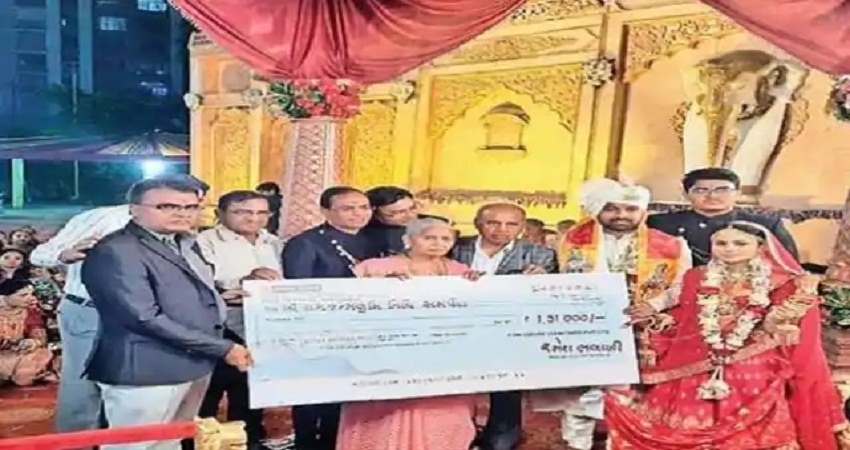 बेटी ने कन्यादान में मिले डेढ़ लाख रुपए राम मंदिर निर्माण के लिए किये दान
