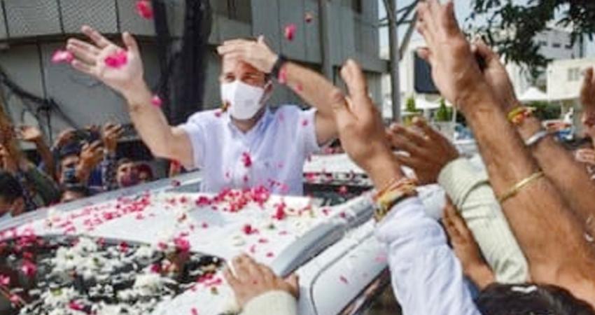 J-K: कटरा पहुंचे कांग्रेस सांसद, थोड़ी देर में शुरू करेंगे वैष्णो देवी की पैदल यात्रा