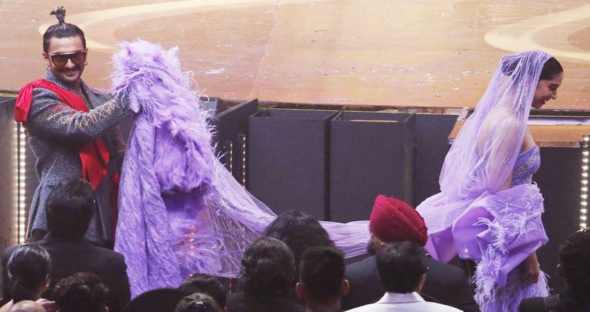 दीपिका और रणवीर के IIFA लुक का बन रहा मजाक, लोगों ने ड्रेस को पोछे से किया कंपेयर