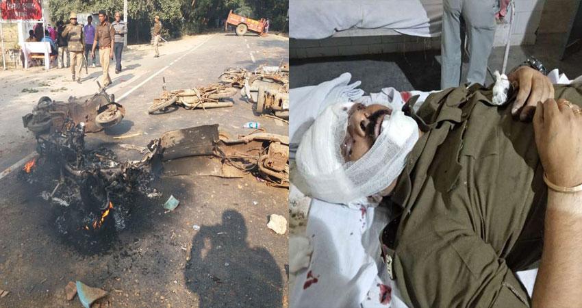 UP के बुलंदशहर में गोकशी के शक में जमकर हंगामा, इंस्पेक्टर सहित 2 की मौत