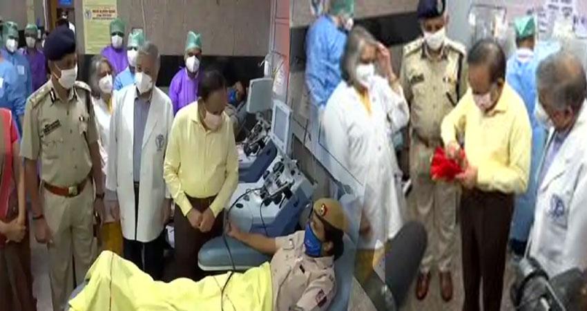 कोरोना संक्रमण : AIIMS- दिल्ली पुलिस के साथ हर्षवर्धन ने लॉन्च किया प्लाज्मा डोनेशन कैंपेन