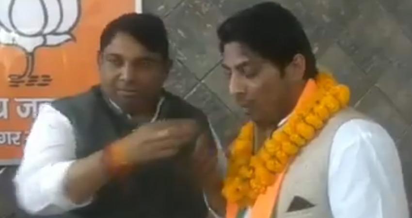CAA-NRC प्रदर्शन में गोली चलाने वाला कपिल गुर्जर BJP में शामिल, AAP ने उठाए सवाल