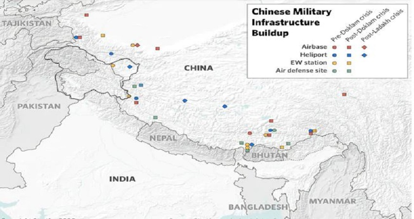 चीन ने 3 साल में भारतीय सीमा के पास एयरबेस, एयर डिफेंस और हेलीपोर्ट की संख्या दोगुनी बढ़ा दी: रिपोर्ट