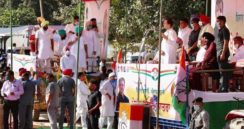 राहुल गांधी ने हरियाणा में भी कृषि कानूनों पर मोदी सरकार को घेरा