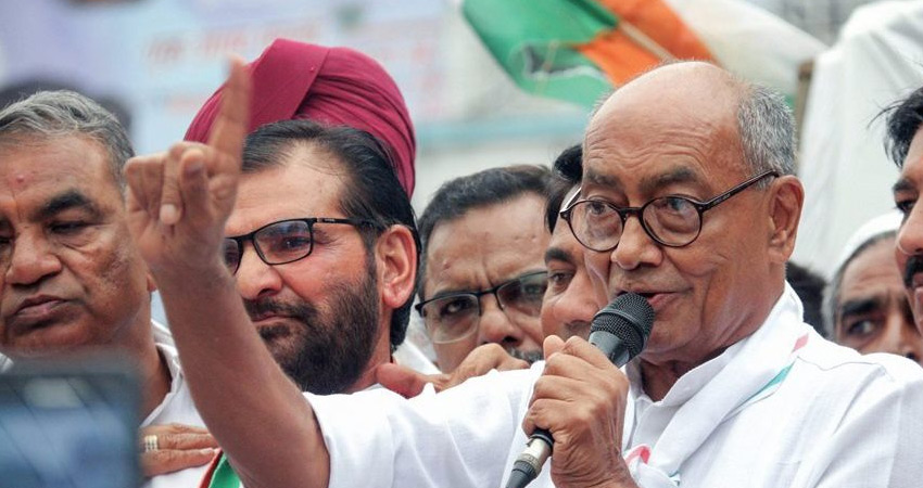 गैंगस्टर विकास दुबे के आत्मसमर्पण पर CM शिवराज से भिड़े दिग्विजय सिंह
