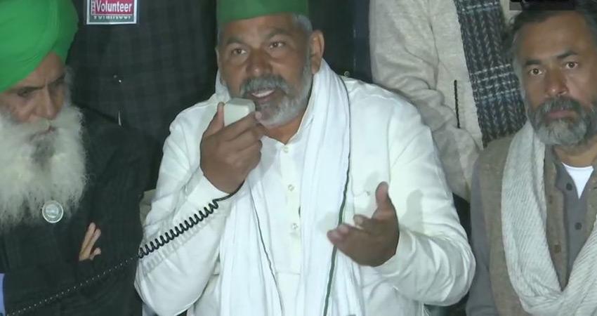 हरियाणा पुलिस ने किसान नेता राकेश टिकैत, 12 अन्य पर दर्ज किया मामला