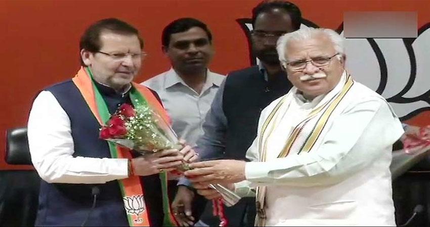 कांग्रेस छोड़ बीजेपी में शामिल हुए अरविंद शर्मा
