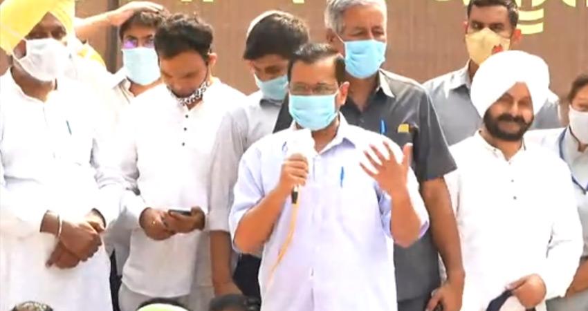 किसानों के विरोध प्रदर्शन में केजरीवाल ने मोदी सरकार, अकाली दल को लिया आड़े हाथ