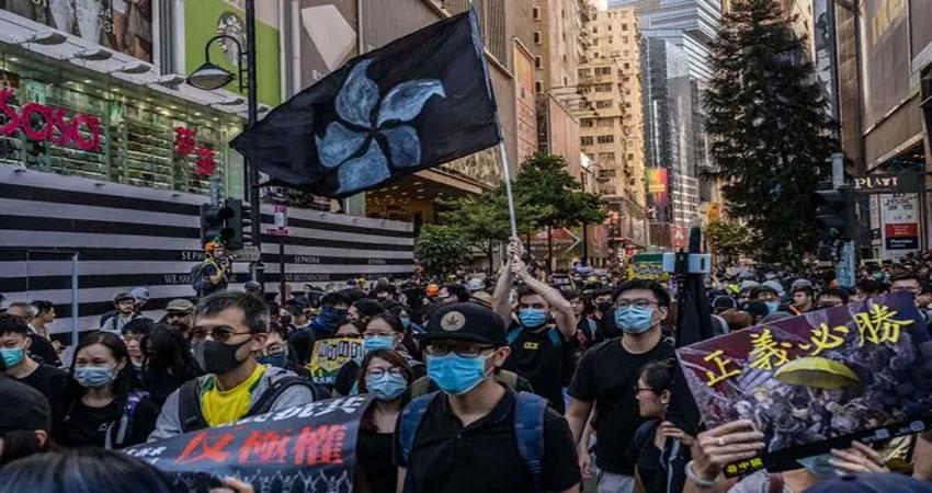 हांगकांग में प्रर्दशनकारियों ने फिर निकाली विशाल रैली, प्रर्दशन को हुए 6 महीने पूरे