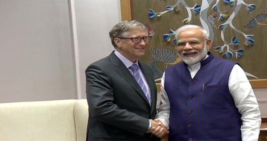 बिल गेट्स ने की प्रधानमंत्री मोदी से मुलाकात