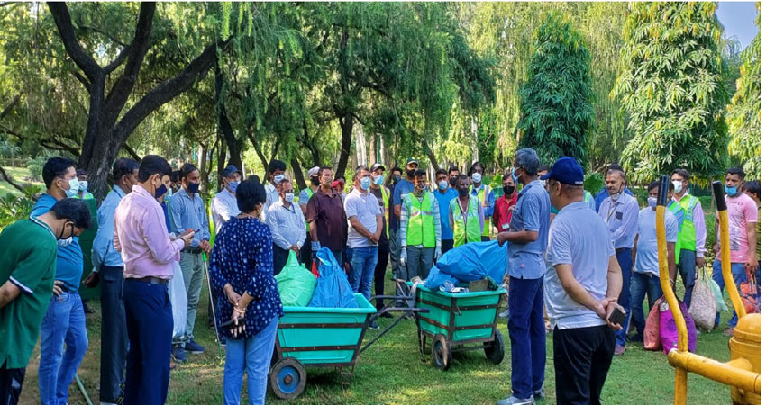 नेहरू पार्क में किया एनडीएमसी ने प्लॉगिंग ड्राइव