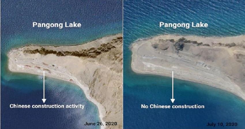 लद्दाख में फिंगर इलाकों से पीछे हट रही है चीनी सेना, देखें इन सैटेलाइट तस्वीरों में...